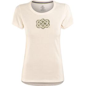 Sherpa Endless Knot t-shirt Dames wit